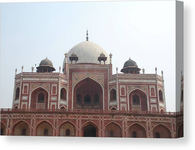 Arch Canvas Print featuring the photograph Humayuns Tomb, Delhi by Brajeshwar.me