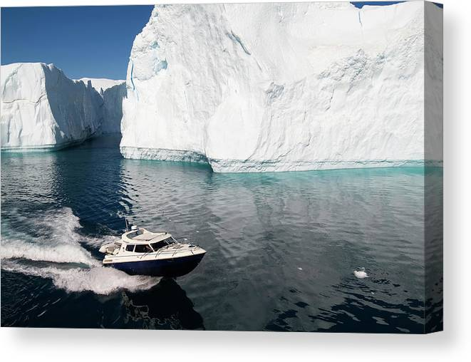 Scenics Canvas Print featuring the photograph Ilulissat, Disko Bay by Gabrielle Therin-weise