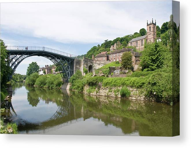 Arch Canvas Print featuring the photograph Ironbridge In Telford by Dageldog