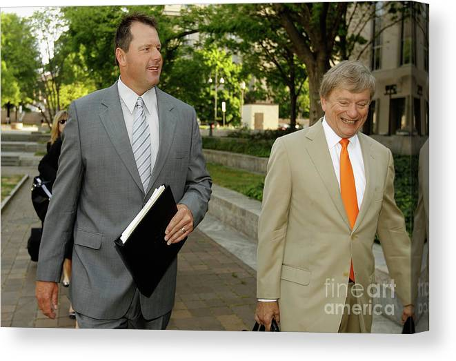 Lawyer Canvas Print featuring the photograph Jury Selection Begins In Roger Clemens by Chip Somodevilla