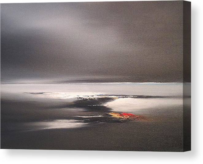 Seascape Canvas Print featuring the painting Last Light by Roland Byrne