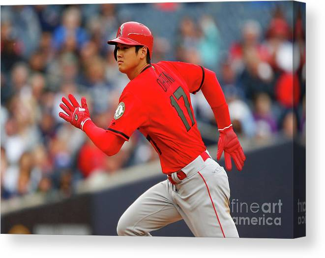 Three Quarter Length Canvas Print featuring the photograph Los Angeles Angels Of Anaheim V New by Jim Mcisaac