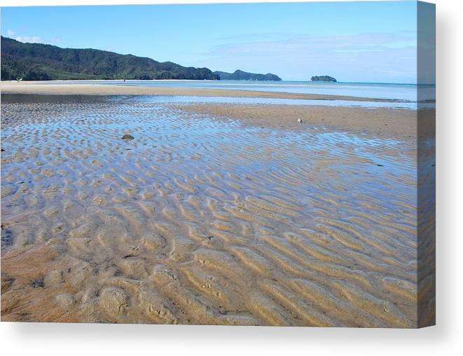 Scenics Canvas Print featuring the photograph Marahau Beach, The Abel Tasman National by Lazingbee