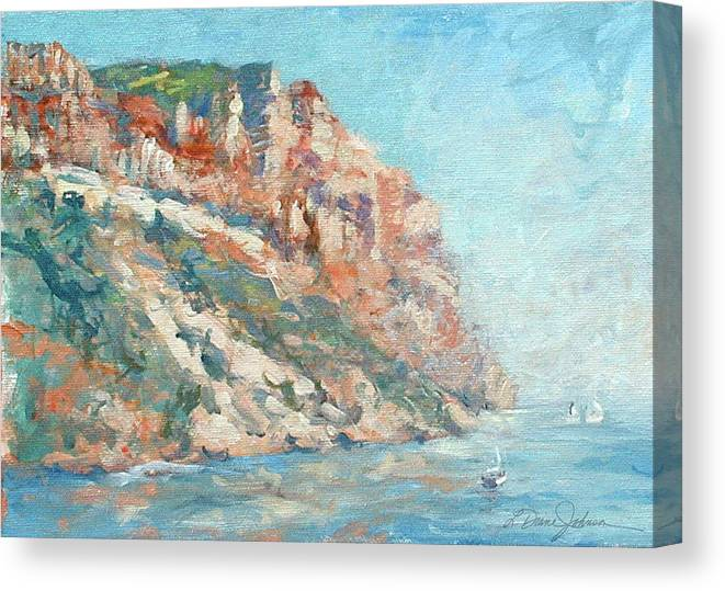Cassis France Canvas Print featuring the photograph Moment at Cassis by L Diane Johnson