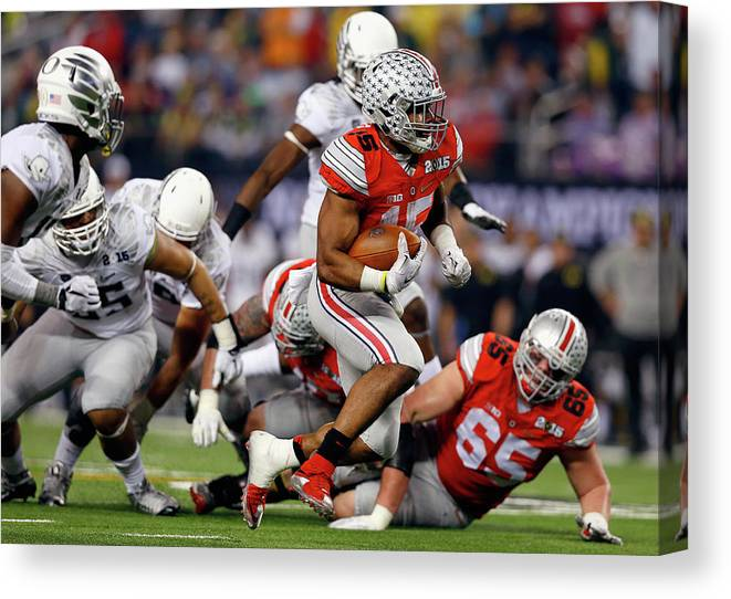 Ball Canvas Print featuring the photograph National Championship by Tom Pennington