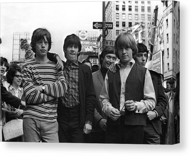 Rock Music Canvas Print featuring the photograph Rolling Stones by William Lovelace