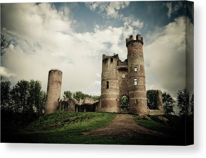Horror Canvas Print featuring the photograph Ruined Castle by Mmac72