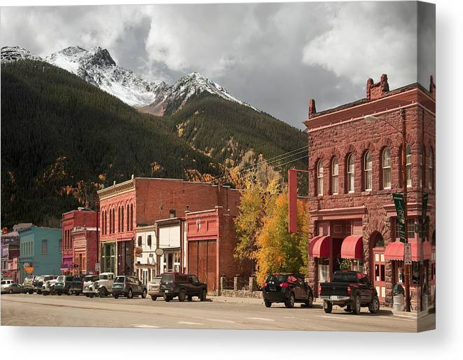 San Juan Mountains Canvas Print featuring the photograph Silverton, Colorado by Missing35mm