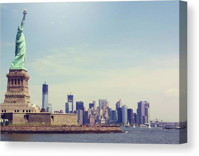 Tranquility Canvas Print featuring the photograph Statue Of Liberty by Sere C. Photography