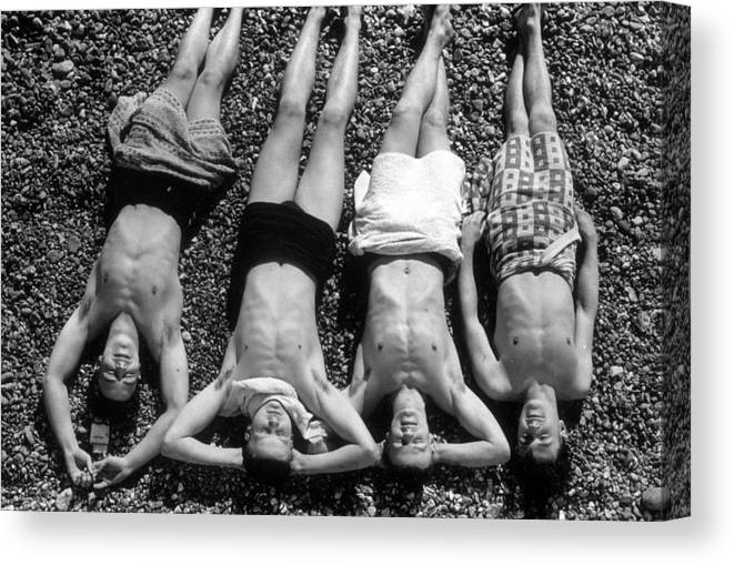 Sunbathing Canvas Print featuring the photograph Sunbathing by Waterman