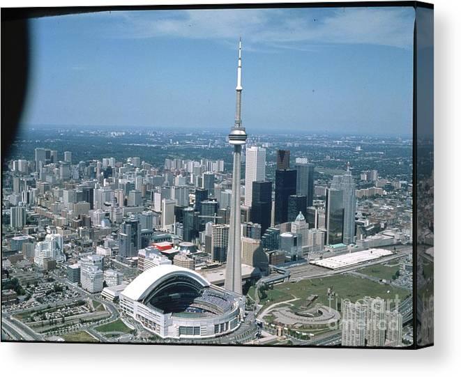 American League Baseball Canvas Print featuring the photograph Toronto Blue Jays by Mlb Photos