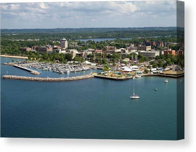 Lake Michigan Canvas Print featuring the photograph Traverse City, Michigan by Ct757fan