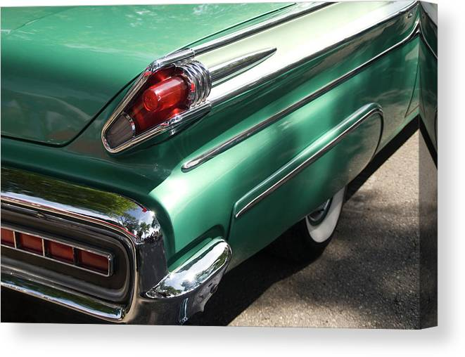 Cool Attitude Canvas Print featuring the photograph Vintage Tail Fin by Sstop