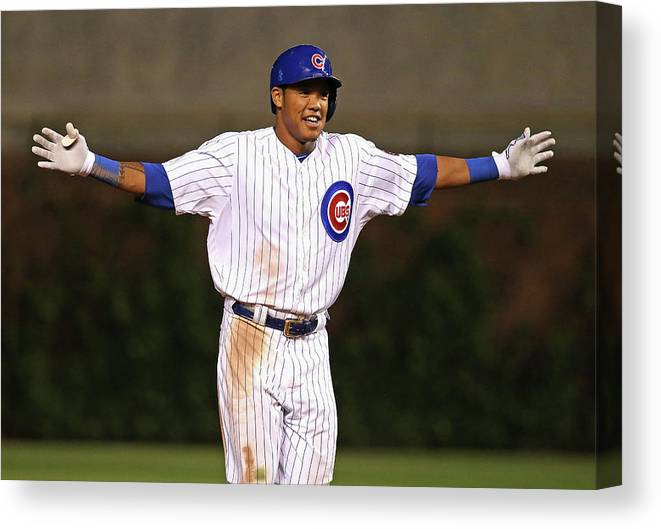 Three Quarter Length Canvas Print featuring the photograph Addison Russell by Jonathan Daniel