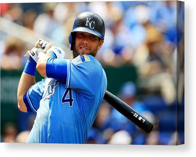 American League Baseball Canvas Print featuring the photograph Alex Gordon by Jamie Squire