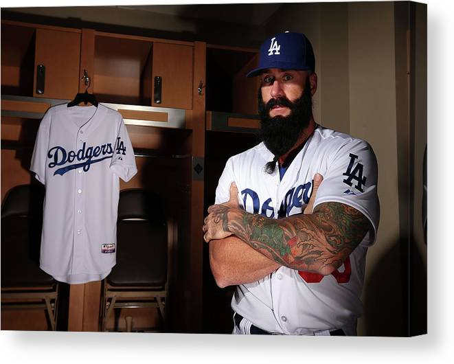 Media Day Canvas Print featuring the photograph Brian Wilson by Christian Petersen