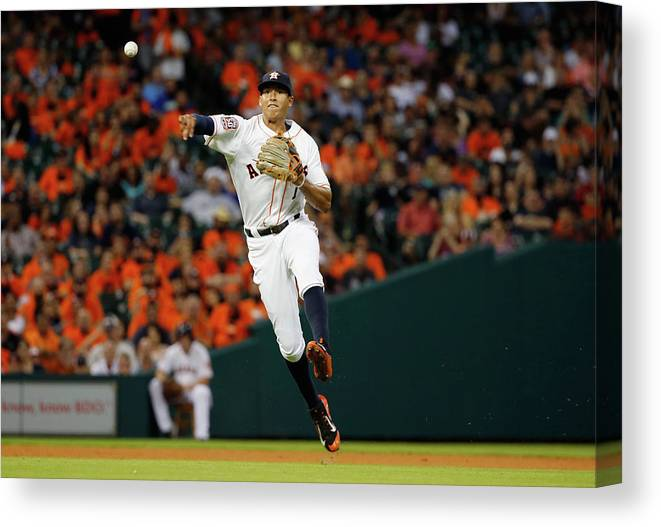 People Canvas Print featuring the photograph Carlos Correa by Scott Halleran