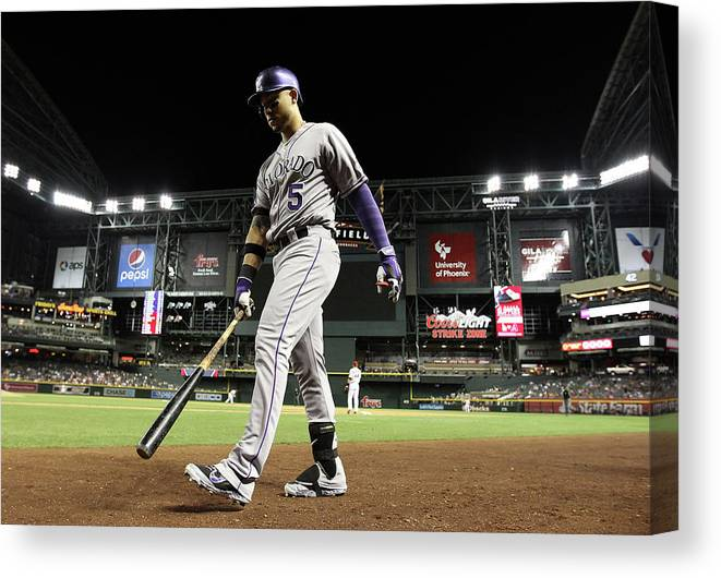 Home Base Canvas Print featuring the photograph Carlos Gonzalez by Christian Petersen