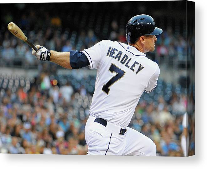 California Canvas Print featuring the photograph Chase Headley by Denis Poroy