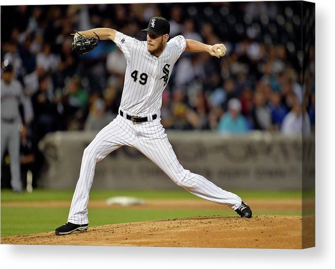Second Inning Canvas Print featuring the photograph Chris Sale by Brian Kersey