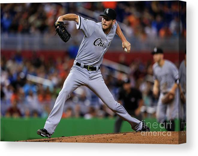 People Canvas Print featuring the photograph Chris Sale by Rob Foldy