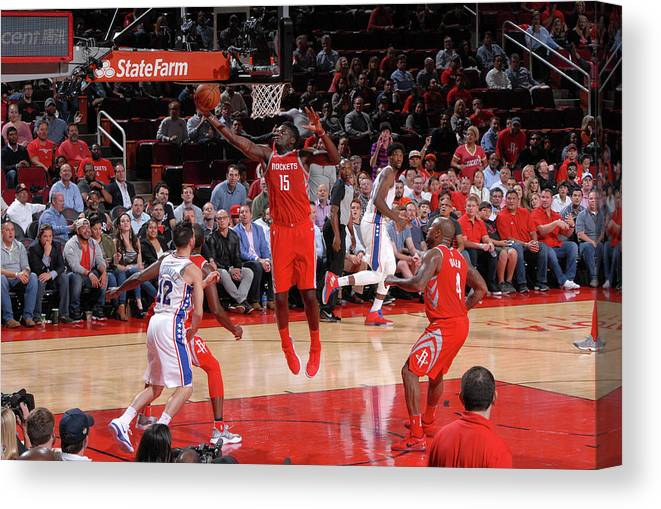 Nba Pro Basketball Canvas Print featuring the photograph Clint Capela by Bill Baptist
