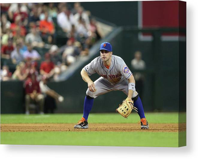 Motion Canvas Print featuring the photograph David Wright by Christian Petersen