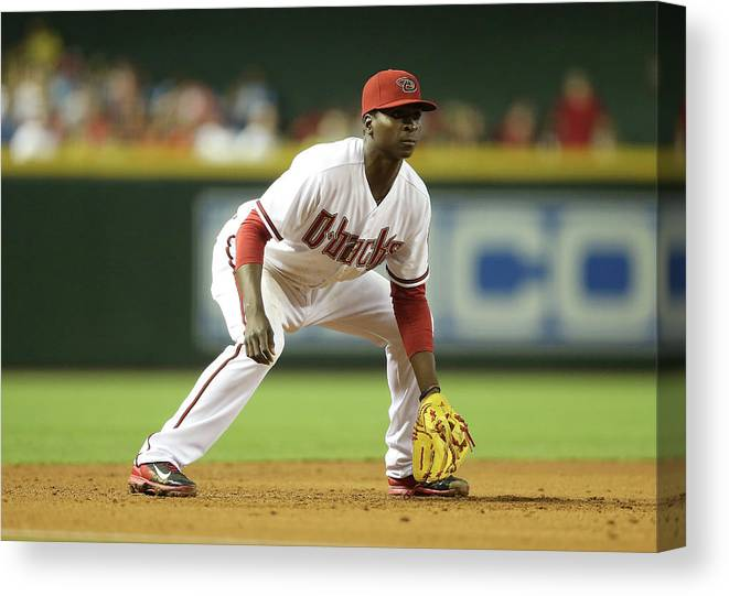 Motion Canvas Print featuring the photograph Didi Gregorius by Christian Petersen