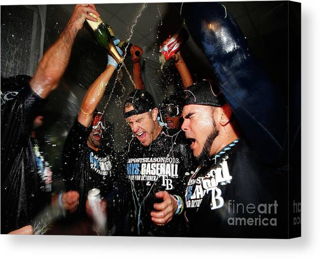 Following Canvas Print featuring the photograph Evan Longoria by Jared Wickerham
