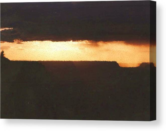 Grand Canyon Canvas Print featuring the mixed media Grand Canyon by Asbjorn Lonvig