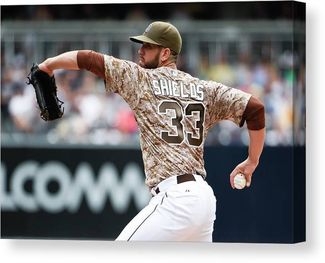 Second Inning Canvas Print featuring the photograph James Shields by Denis Poroy