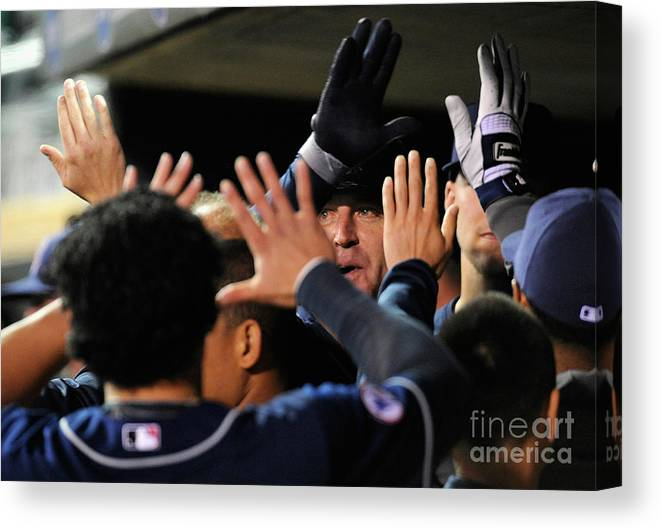People Canvas Print featuring the photograph Jim Thome by Hannah Foslien