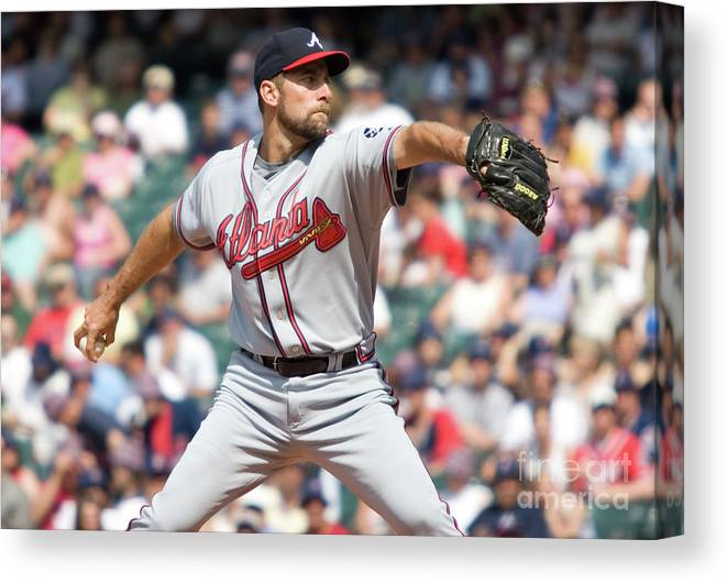 People Canvas Print featuring the photograph John Smoltz by Icon Sports Wire