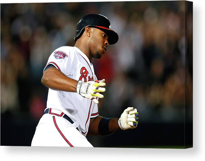 Atlanta Canvas Print featuring the photograph Justin Upton and Jason Heyward by Kevin C. Cox