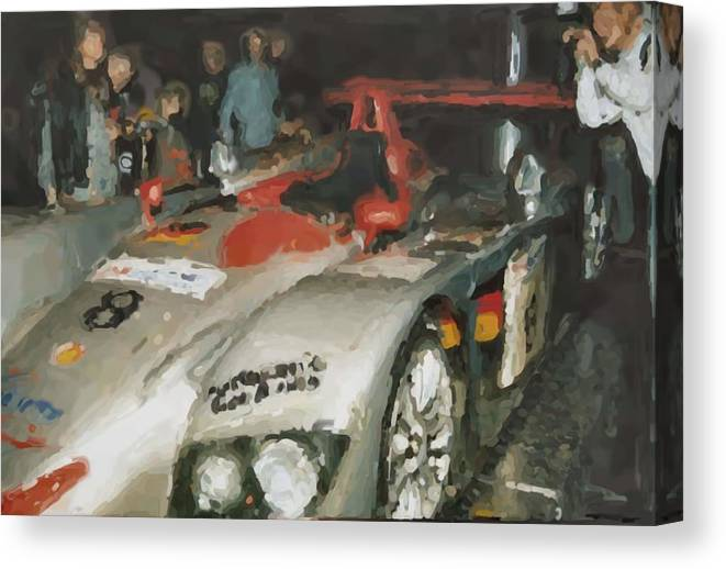 Le Mans Canvas Print featuring the mixed media Le Mans by Asbjorn Lonvig
