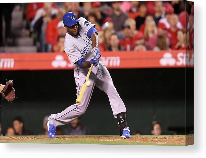 People Canvas Print featuring the photograph Lorenzo Cain by Stephen Dunn