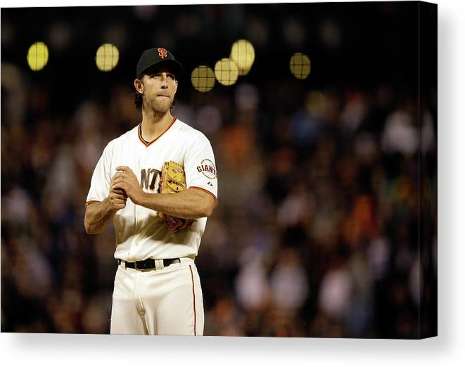 San Francisco Canvas Print featuring the photograph Madison Bumgarner by Ezra Shaw