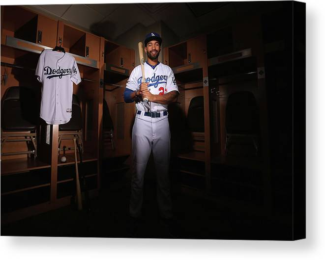 Media Day Canvas Print featuring the photograph Matt Kemp by Christian Petersen