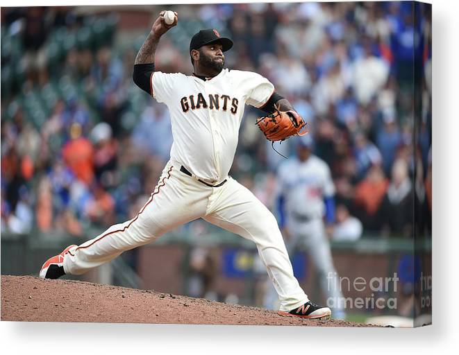 San Francisco Canvas Print featuring the photograph Pablo Sandoval by Thearon W. Henderson