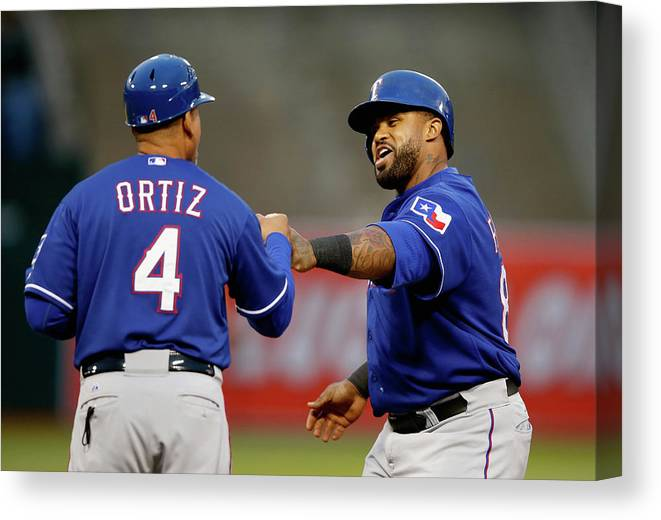 Three Quarter Length Canvas Print featuring the photograph Prince Fielder by Ezra Shaw