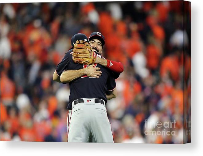 American League Baseball Canvas Print featuring the photograph Ryan Zimmerman and Anthony Rendon by Elsa