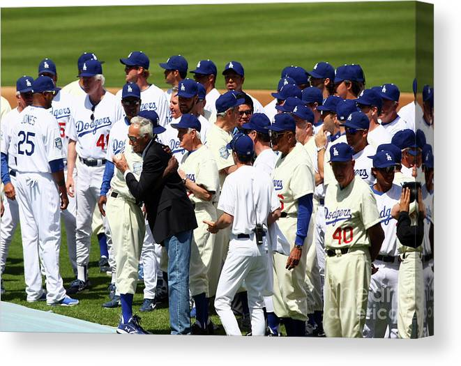Sandy Koufax Canvas Print featuring the photograph Sandy Koufax by Icon Sports Wire