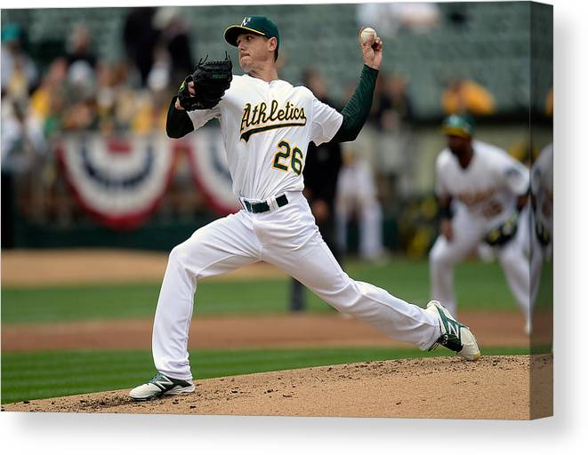 Second Inning Canvas Print featuring the photograph Scott Kazmir by Thearon W. Henderson