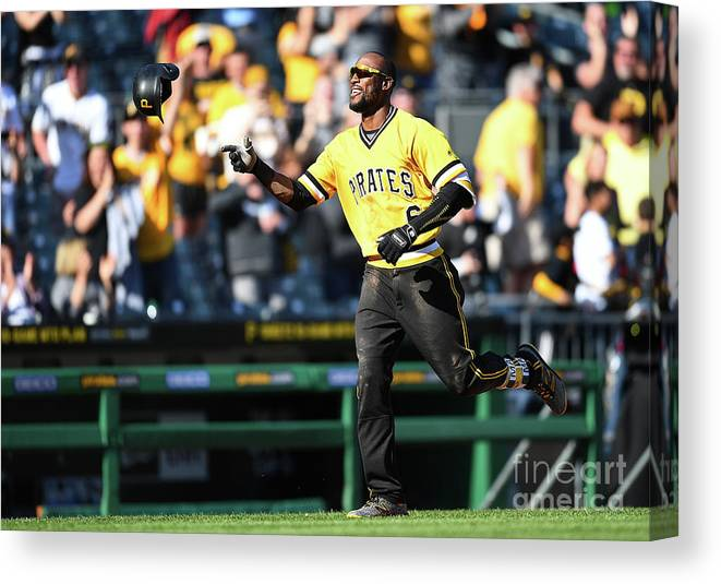 People Canvas Print featuring the photograph Starling Marte by Joe Sargent