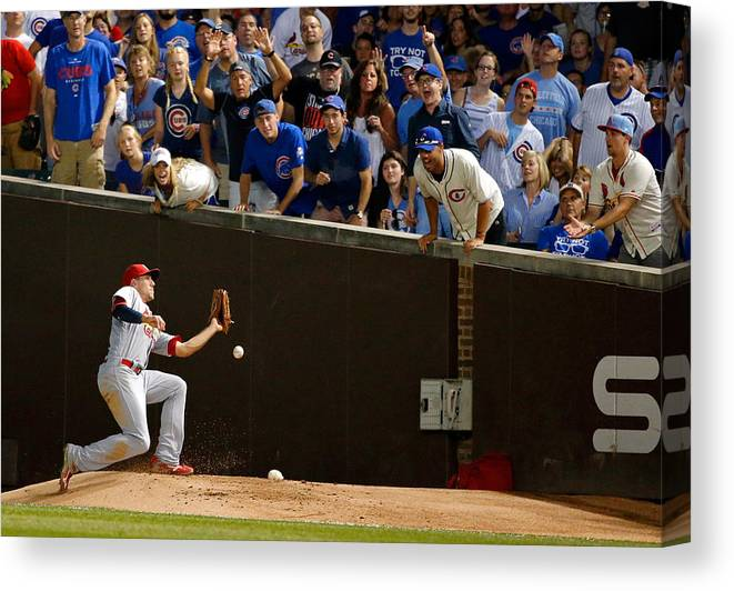St. Louis Cardinals Canvas Print featuring the photograph Stephen Piscotty by Jon Durr