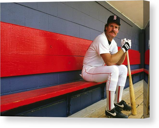 1980-1989 Canvas Print featuring the photograph Wade Boggs by Ronald C. Modra/sports Imagery