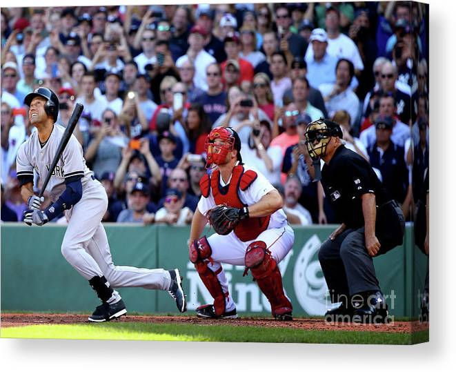 American League Baseball Canvas Print featuring the photograph Derek Parks by Al Bello