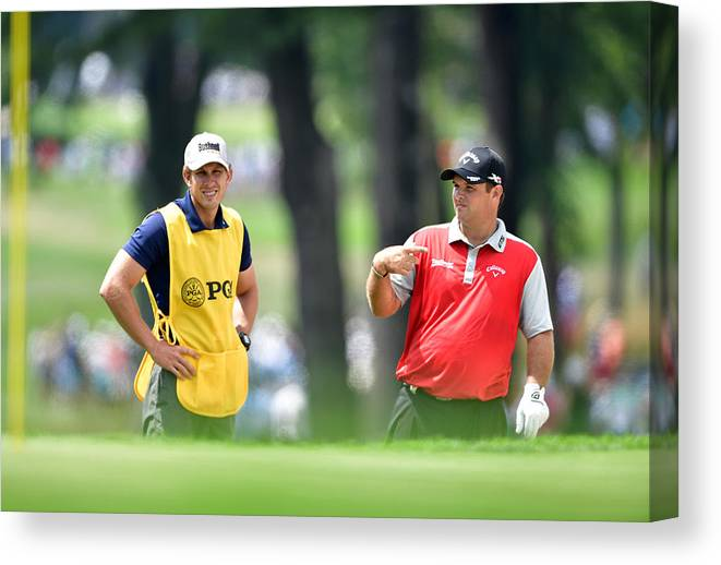 Patrick Reed Canvas Print featuring the photograph PGA Championship - Round Two by Stuart Franklin