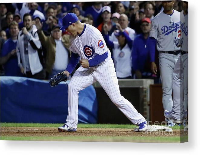 Championship Canvas Print featuring the photograph Anthony Rizzo by Jonathan Daniel