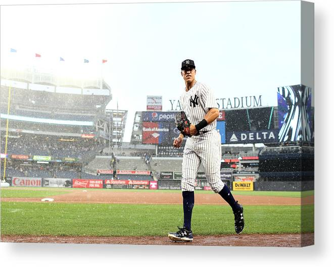 People Canvas Print featuring the photograph Aaron Judge by Elsa